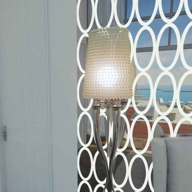 3d model visionnaire brundile wall lamp