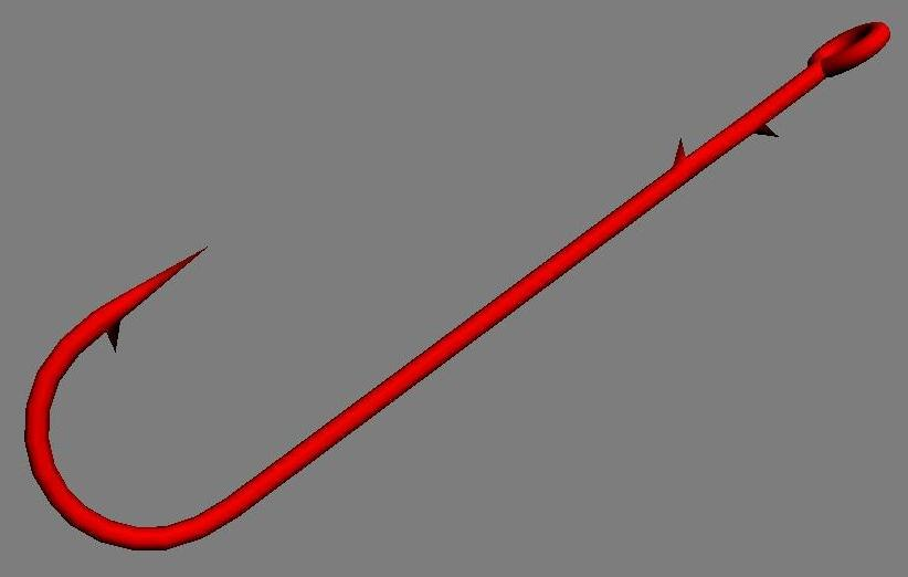 3d worm hook model