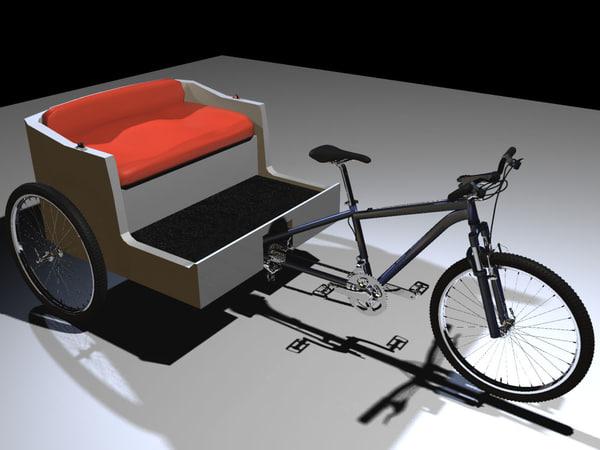 maya pedicab bike