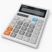 3d model electronic calculator