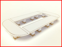 luxury table 3d max