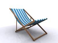 3d model of sunbed sun bed garden chair