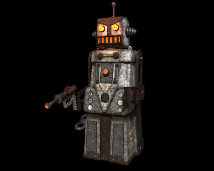 3d retro robot