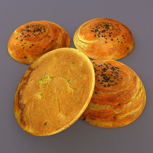 traditional food azerbaijan 3d model