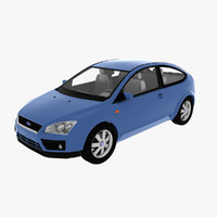 focus 2005 hatchback 2 3d model