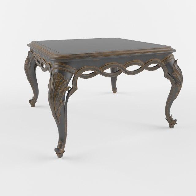 coffe table chelini ftbl 3d model