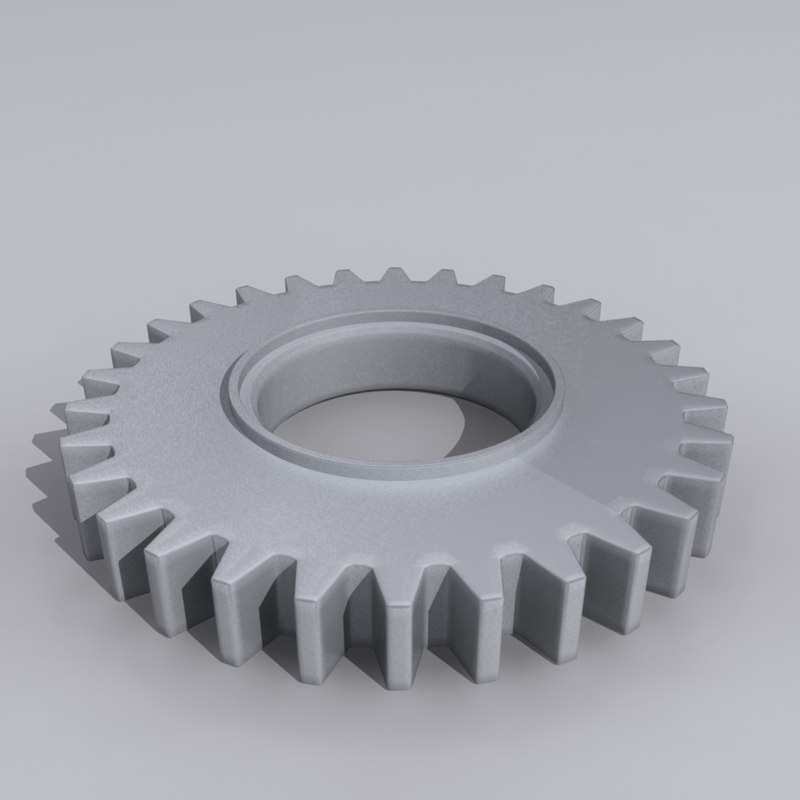 3d wheel mech gear