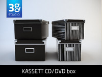 Kassett CD-DVD box