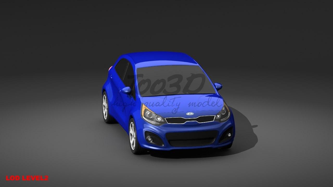 kia rio 3d model
