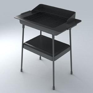 3d barbecue exterior model
