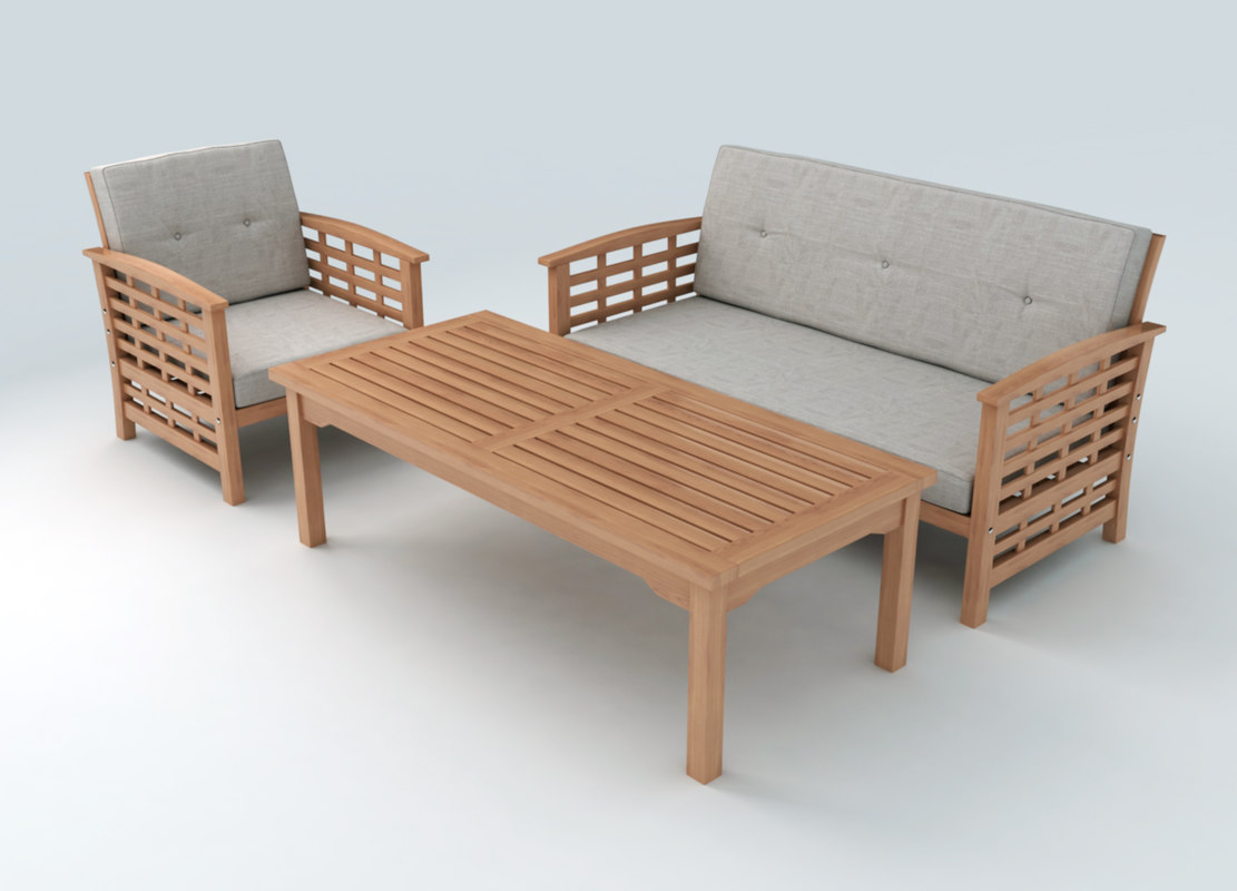 Set furniture 3d max for Outdoor furniture 3d max