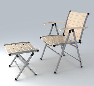 garden chair obj