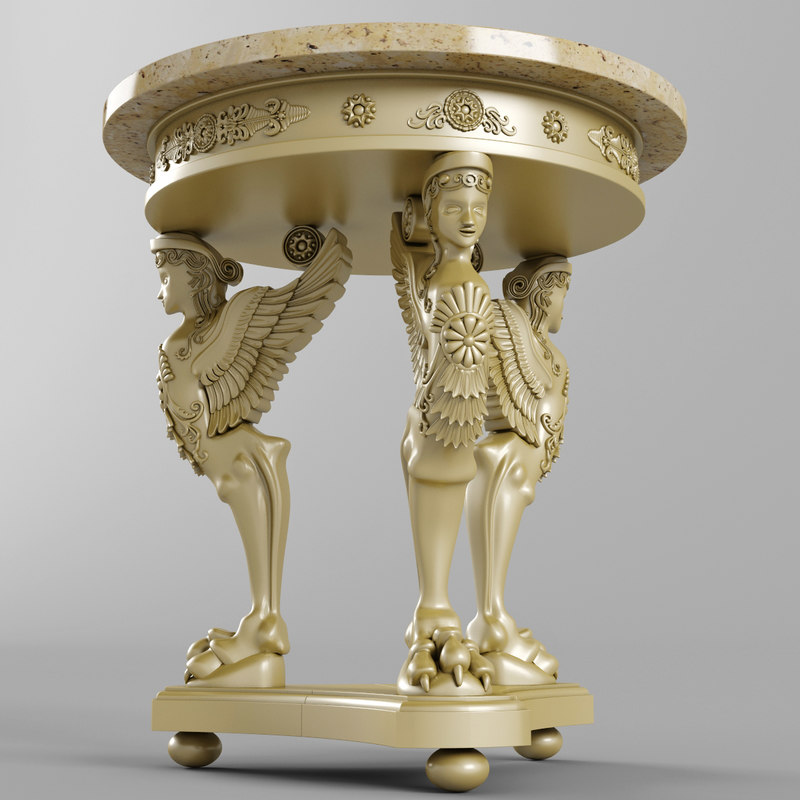 3d empire table angel