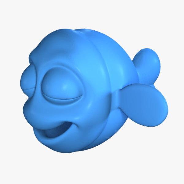 3d cartoon fish no:2 model