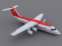 3d model bae 146-200 avro rj85