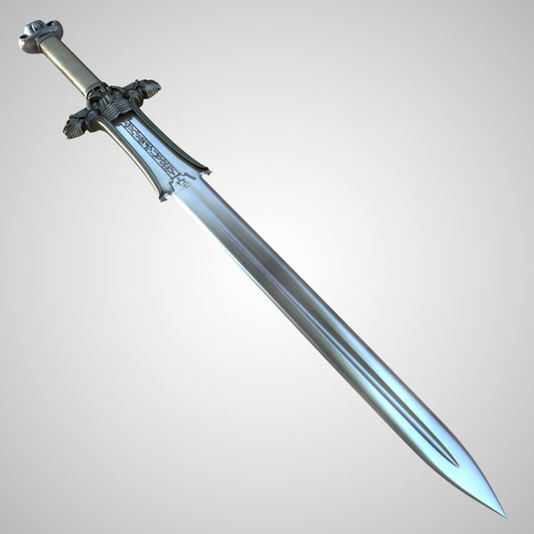 3ds max conan atlantean king sword