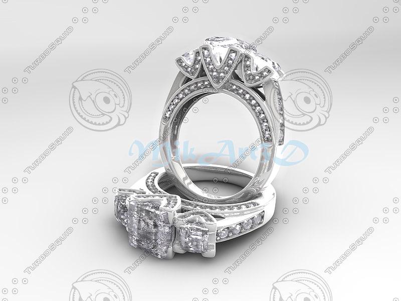 3d model ring jewelry jewel