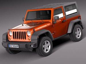 3d jeep wrangler rubicon suv