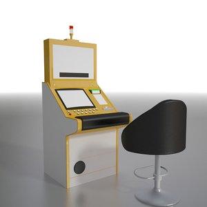 slant slot machine 3d max