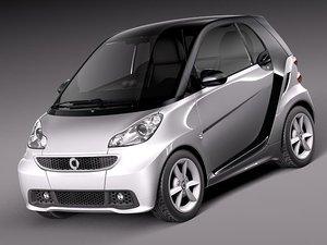 3d smart 42 fortwo 2013 model