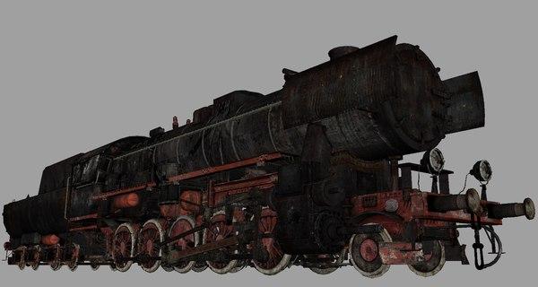 3d obj steam locomotive br52