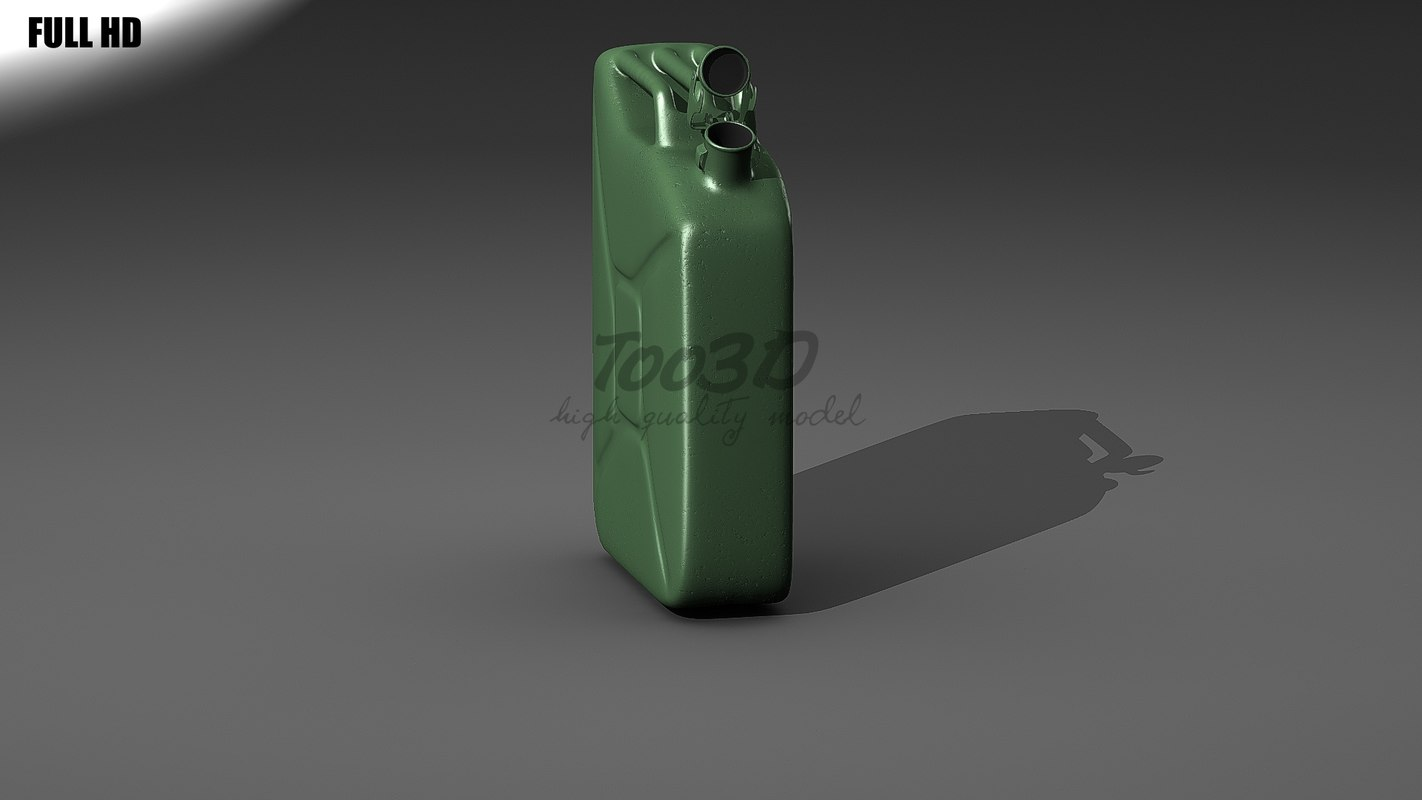 3d model jerrycan tank fuel