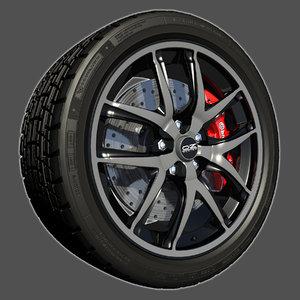 sport racing wheel 3d model