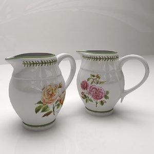 3ds max milk jug roses
