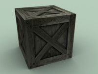 Low poly crate (2 variations)