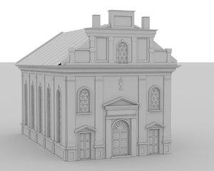 3d model synagogue
