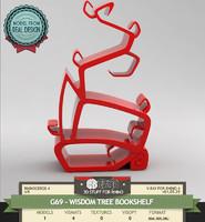 3d model tree bookshelf