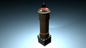 jument lighthouse 3d model