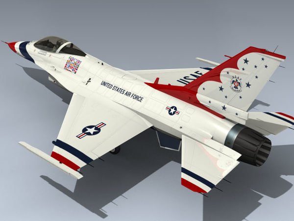 3d f-16c thunderbirds 2012 model