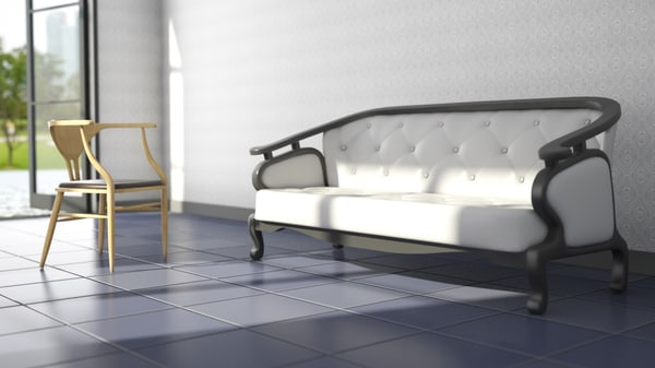 free max model sofa chair scene