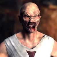 3d model of vampire