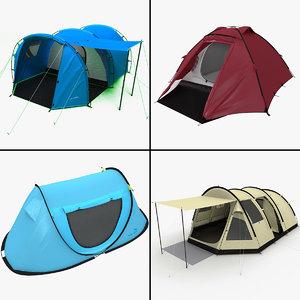 camping tents 3d max