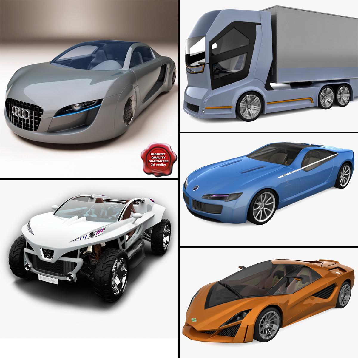3d model of concept cars 1
