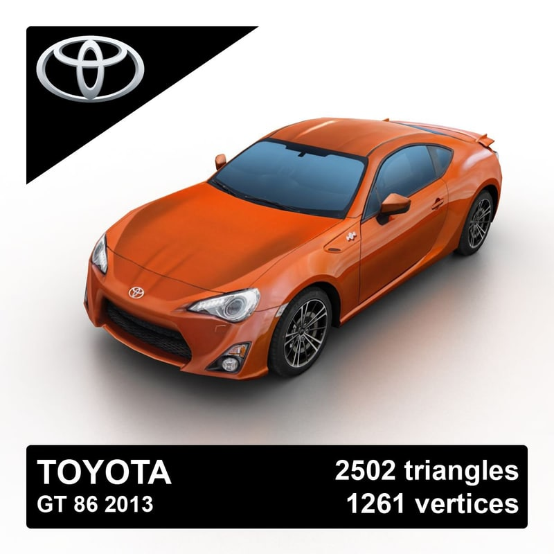 2013 toyota gt 86 3d max