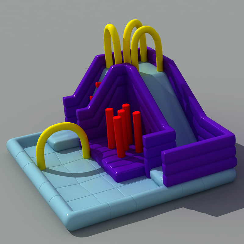 3d inflatable playground model