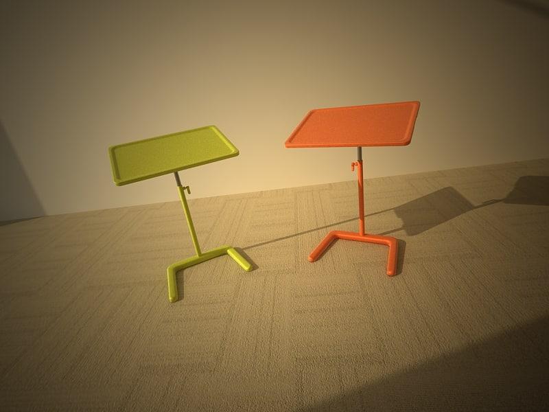3d nestable table model