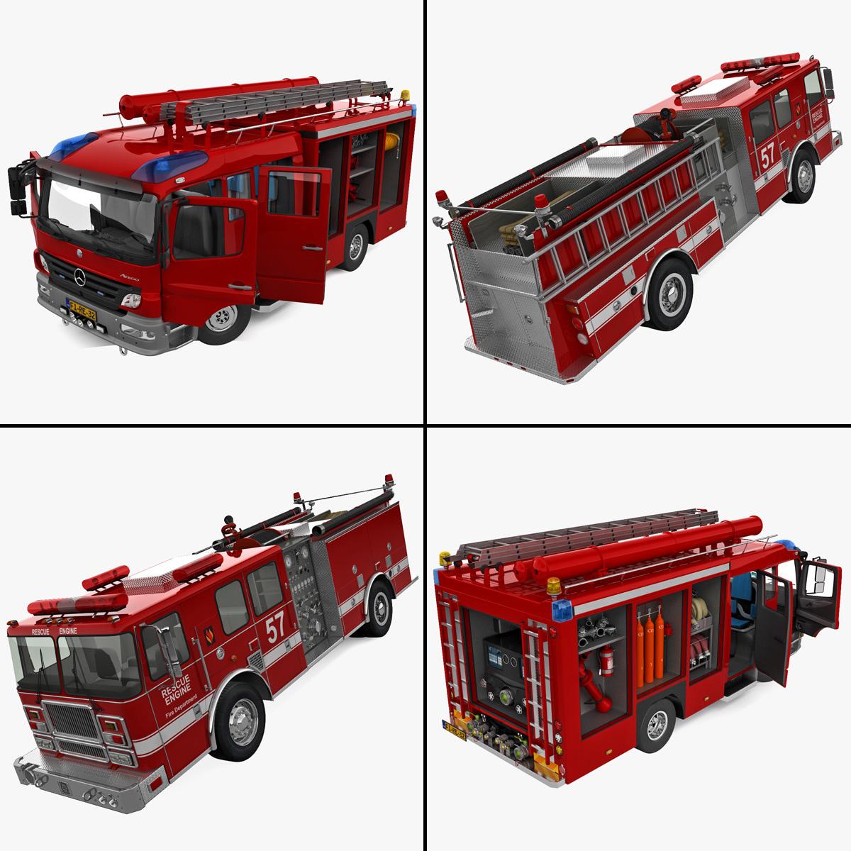 3d model of trucks mercedes modelled