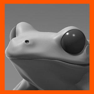 3ds max frog amphibian