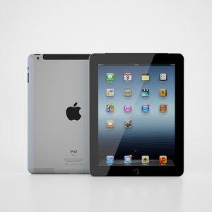 apple ipad 3 3d max