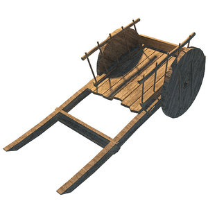 medieval wooden cart 3d max