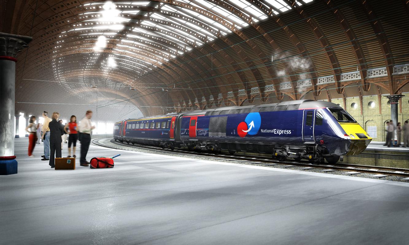 uk passenger train 3d model