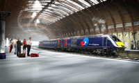 uk passenger train 3d model