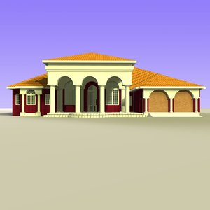 house classical modeled 3d model