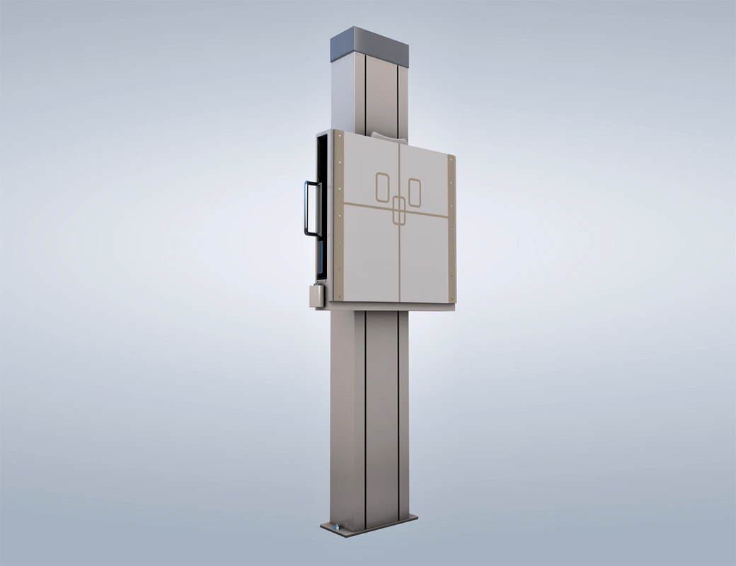 x-ray machine medical equipment 3d model
