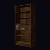 Old Bookcase, Low Poly