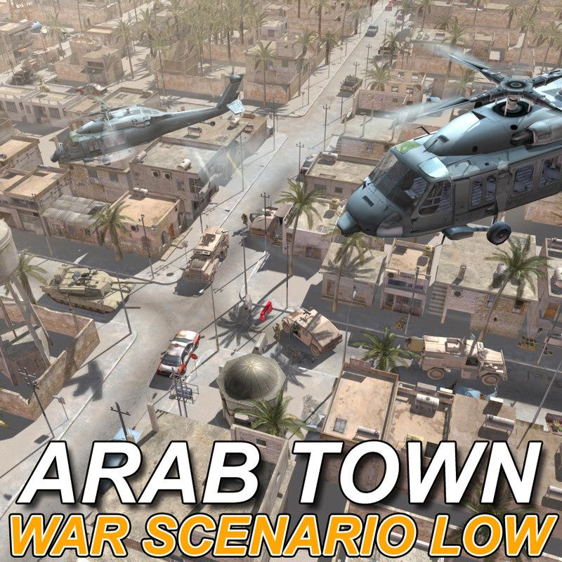 arab town war 3d model